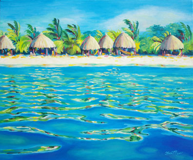 Beach Huts at Curacao