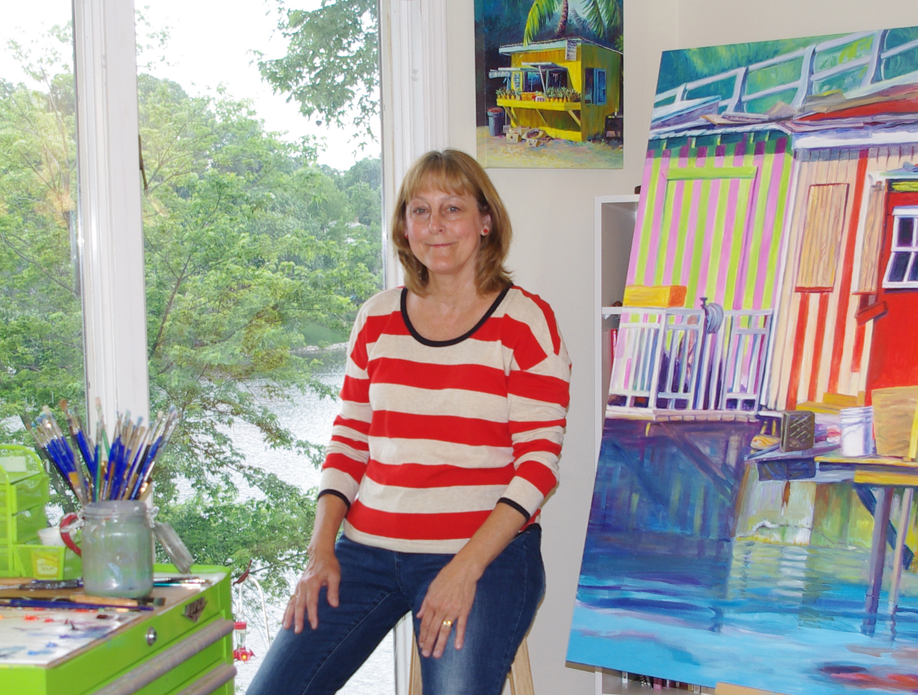 Terri in her studio